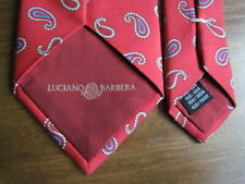 Silk Tie Luciano Barbera Italy Blue Yellow Red Paisley Small Print