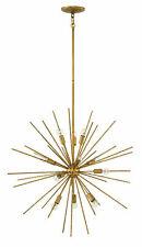 Fredrick Ramond ~ FR43015 Tryst Atomic Sputnik MOD Mid Century Chandelier - Gold