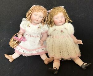 Dollshouse Reproduction Twin All  Porcelain Doll 6 Inches Tall