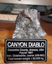 150 gm . CANYON DIABLO IRON METEORITE ; TOP GRADE ; BEAUTIFUL