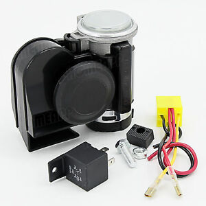12V Electric Air Horn for Car Truck Boat Motorcycle Dual Tone Trumpet Super Loud