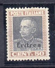 FRANCOBOLLI 1928 ERITREA VITTORIO EMANUELE 3° C.50 MLH D/8942