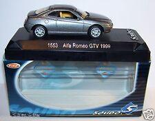 OLD SOLIDO ALFA ROMEO GTV GRIS FONCE METAL 1999 REF 1553 IN BOX