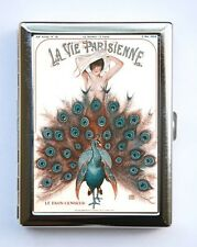 Art Deco La Vie Parisienne Flapper Peacock id case Wallet Business Cards #7