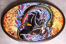 Metal TATTOO belt buckle Panther and Snake NEW