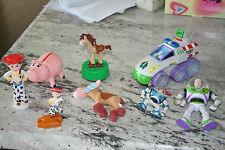 Lot of 8 Disney Toy Story Figures Toys including Bullseye Mini Bean Hamm Bank