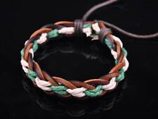 New Surfer Hemp Leather Braided Men's Wristband Bracelet Bangle Multi-Color