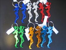 Lot of 24 pc Metal Sexy Girl Keychain Key Chain Bottle Opener