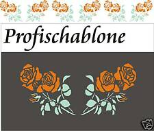 Wandgestaltung, Wandschablone, Wandfries, Schablone, Malerschablone - Rosenranke