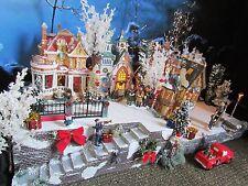 "Christmas Stucco Stairs,Snow Village Display platform base 28x12"" Dept 56 Lemax"