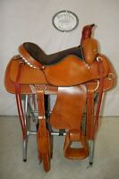 """17"""" G.W. CRATE ROPING RANCH SADDLE NEW FREE SHIP TRAIL MADE IN ALABAMA USA"""