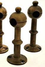 """Part - gallery Post, solid brass turning, Rj Horner, Nyc, c1890, 3"""", desk"""