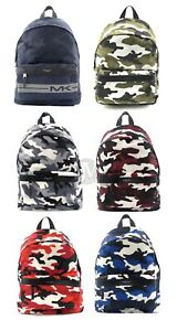 Michael Kors Mens Kent Camouflage Nylon Backpack Bag