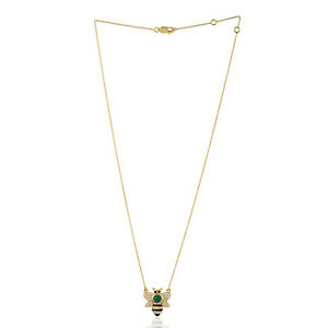 0.5ct Natural Emerald Locket Necklace 18k Yellow Gold Jewelry