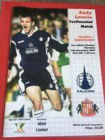 Falkirk v Sunderland Andy Lawrie Testimonial November 2007