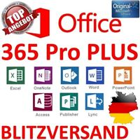 Microsoft Office 365 | Für 5 PC /MAC | Office Professional Plus 2016 | Dauerhaft