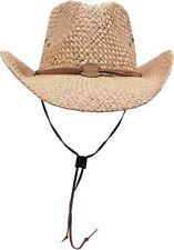 Safarihut Strohhut mit Kinnband Sonnenhut Cowboyhut Sommerhut Freizeithut Hut