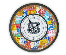 Route 66 Metal Schild Retro mit Uhr Blechschild Vintage Stl Nostalgisch