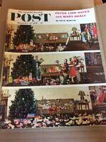 DECEMBER 27 1958 SATURDAY EVENING POST vintage magazine Christmas Morning