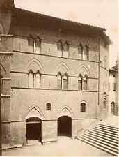 Lombardi. Italie, Siena, palazzo d'Elci  Vintage albumen print Tirage alb