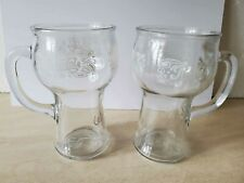 Vintage Pepsi Cola Glasses Cups Mugs Tumblers Handle Lot (2)