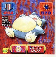 POKEMON STICKER Carte JAPANESE 50X50 1997 NORM@L N° 346 SNORLAX RONFLEX