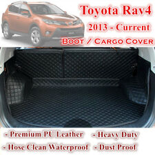 Tailor Made PU Leather Boot Liner Cargo Mat Cover for Toyota Rav4 2013 - 2017