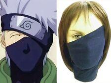 Anime Hatake Kakashi Blue Sensei Ninja Veil Face Mask Shiel Cosplay Costume