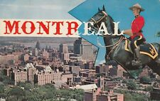 """*Canada Postcard-""""Mount Royal Canadian Police & City View"""" /Montreal/ (PM 1959)"""