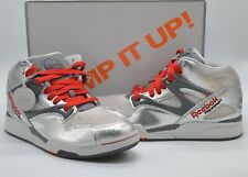 New Reebok Pump Omni Lite Metallic Silver/Grey/Red Limited Edition Rare Retro 9