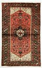 4 x 7 Hand Knotted Tribal Coral Wool Zanjan Nomadic Oriental Area Rug