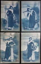 Netherlands Dutch 4 x DUTCH MILK MAID c1912 Old Postcards by Carlton 3285