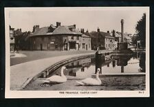 Somerset CASTLE CARY The Triangle & Swans used c1940s RP PPC local pub Spearman