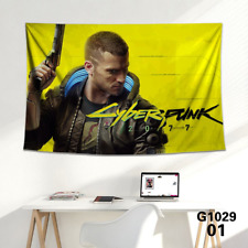 Cyberpunk 2077 Gaming Wall Poster Canvas Room Decoration Tapestry art