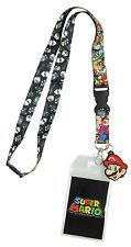 Nintendo Super Mario Characters Reversible Breakaway Keychain Lanyard ID Holder