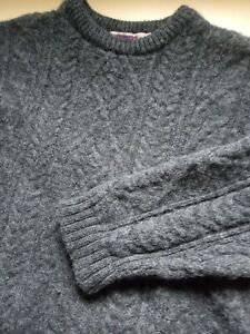 Mens Highland Home Industries Grey Wool Warm Crew Neck Jumper Size M Medium