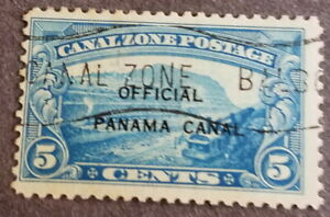 Canal Zone O3 variety O over N, fine plus, CTO as almost always, 1,000 issued O/