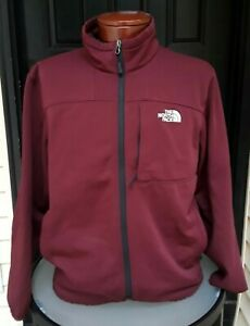 The North Face Men's XL Full Zip Red Track Jacket Sweatshirt w/ Zipped Pockets
