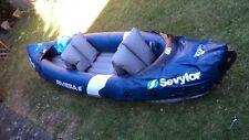 Sevylor Riviera Inflatable Kayak + pump +2 paddles + 2 kids lifejackets, Canoe