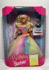 New 1997 RARE Birthday Barbie Doll W/  Rainbow Shimmer Dress 18224 NIB