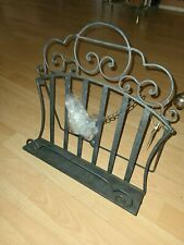 """Ornate Metal Wire Picture Frame Holder Art  Easel 14.75"""" Bible Stand Display"""