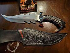 "Gil Hibben Mortal Kombat Raptor Movie Knife8 1/4"" blade length of 13 7/8 in"