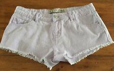 Women's Denim Co. Lilac Denim Frayed Edges Shorts - Size 10