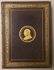 Memorial of the Inauguration of the Statue of Ben Franklin- 1857 Boston -Leather