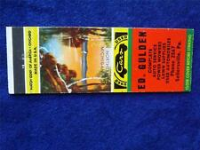 ED GULDEN USED CARS AUTO LAWN POWER MOWERS REPAIR SELLERSVILLE PA MATCHBOOK