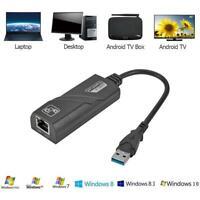 USB3.0 auf RJ45 Adapter USB Netzwerkadapter 10/100/1000Mbps Gigabit Ethernet LAN