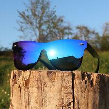 GIL Sonnenbrille Blau Metallic UV400 Polycarbonate Lens Markenbrille SB002
