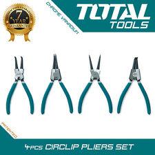 "Total Tools - 4pc Circlip Plier Set Professional 7"" Internal, External,"