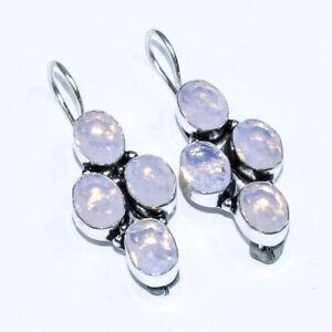 """Milkey Opal 925 Sterling Silver Jewelry Earring 2"""""""