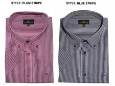 Camicie casual e maglie da uomo a righe con button down